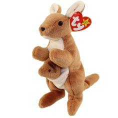 TY Beanie Baby  POUCH the Kangaroo (7 inch)  MWMTs Stuffed Animal Toy