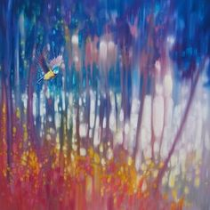 Original Oil Painting - Jewel Of Nature - Semi Abstract With Woodland Bird Painting by Gill Bustamante Art Paintings For Sale, Modern Art Paintings, Original Paintings, Oil Paintings, Painting Edges, Texture Painting, Traditional Artwork, Original Art For Sale, Abstract Landscape