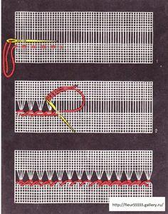 Herb Embroidery, Hardanger Embroidery, Hand Embroidery Stitches, Hand Embroidery Designs, Cross Stitch Embroidery, Embroidery Techniques, Smocking Patterns, Hem Stitch, Drawn Thread
