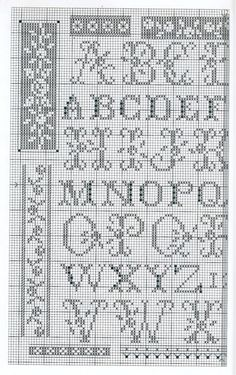 Cross Stitch Letters, Cross Stitch Borders, Cross Stitch Samplers, Cross Stitch Flowers, Cross Stitch Charts, Cross Stitch Designs, Cross Stitching, Cross Stitch Embroidery, Stitch Patterns