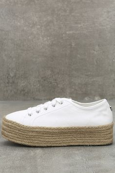 4424af9201a Steve Madden Hampton Sneakers - White Platform Sneakers - Espadrille  Sneakers -  59.00 Steve Madden Platform