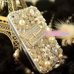 Gorgeous crystal handbag cell phone set iphone 3/3s 4/4s htc Samsung Sony case