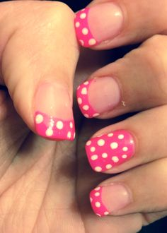 Pink Minnie Mouse nails! #disney #pinknails