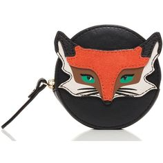 Kate Spade Blaze A Trail Fox Coin Purse ($88) ❤ liked on Polyvore featuring bags, wallets, coin pouch, coin pouch wallet, colorful bags, decorating bags and kate spade