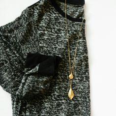 JQ Vancouver Gold Double Pendant Necklace  
