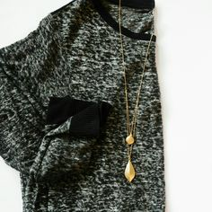 JQ Vancouver Gold Double Pendant Necklace |