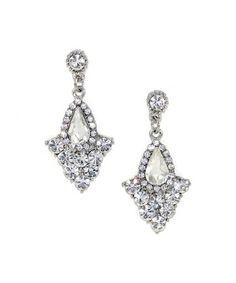 Look at this #zulilyfind! Silvertone & Crystal Art Deco Chandelier Drop Earrings by Kristin Perry Accessories #zulilyfinds