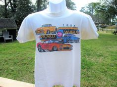 1986 World of Wheels T Shirt by UncleJimmysAttic on Etsy