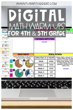 Digital made for you math warm-ups for 4th and 5th grade.  These digital math warm ups are done for you for the WHOLE year!  These math warm ups are 15 minutes long and get your students ready for math block!  Read all about the most effective way to use these digital math warm ups in your upper elementary classroom.