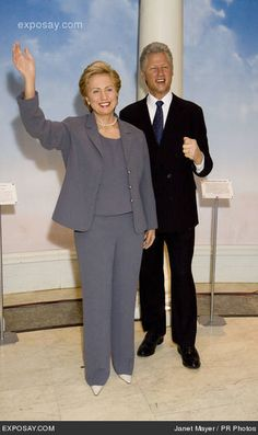 Hillary Clinton and Bill Clinton -  Madame Tussaud's Wax Museum in NY