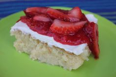 Tres Leche Cake with Strawberry Topping by Deals to Meals