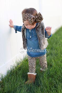 Cheetah Headband Girls Head wrap baby headwrap by NeAccessory