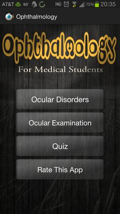 Ophthalmology An Eye App Review