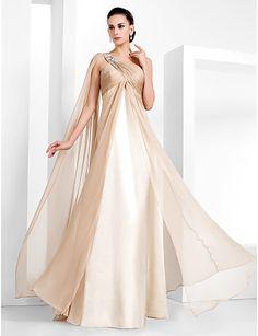 Sheath/Column One Shoulder Floor-length Chiffon Evening Dress (466840) - USD $ 92.99