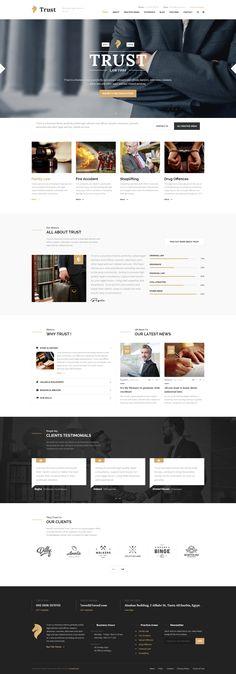 Trust - Lawyer & Attorney Business PSD Template - PSD Templates   ThemeForest