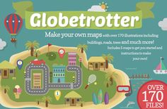 Check out Globetrotter! 170+ Map Illustrations by Rowena Leanne Designs on Creative Market