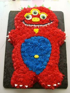 Silly Monster Cake Silly Monster by Amandas Caketastic Creations on Flickr