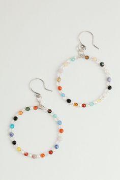 Silver Hoop Earrings  Constellation Swarovski by TalulahLee  www.talulahlee.com BONUS: 20% off in the Summer Sale Ends 7/31