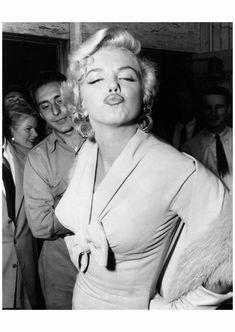 Marilyn Monroe (1 June 1926 – 5 August 1962 )   Photograph by Weegee (Arthur Fellig), 1954