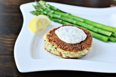 Open-Face Crab Burgers with Red Pepper Dressing Recipe from Epicurious ...