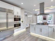 3843 macomb st nw, washington, dc 20016 zillow flooring in 2019 Kitchen Reno, Diy Kitchen, Kitchen Ideas, Modern Basement, Basement Ideas, White Shelves, Expensive Houses, Kitchen Colors, Modern House Design