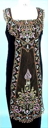 1912 Edwardian era black net overdress. Amazing