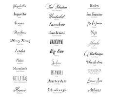 De la nota: Las 50 mejores fuentes caligráficas para tu boda  Leer mas: http://www.hispabodas.com/notas/3082-50-mejores-fuentes-caligraficas-boda