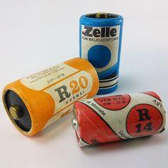 "ddrmuseum: "" Batterien aus der DDR. // Batteries from GDR /mg #ddrmuseum #battery #ernergy #design #instamuseum #DDR #gdr (at DDR Museum) """