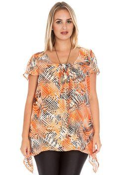 Tropical short sleeved plus size tunic shirt GREEN colour, size 18 BNWT  #plussize #tunicpluzsize