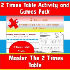 2 Times Table Worksheet, Times Tables Worksheets, Activity Sheets, Activity Games, Book Activities, Counting By 2, Multiplication, Kids Learning, Workplace