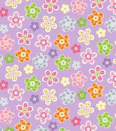 Nursery Fabric- Enchanted Garden Purple