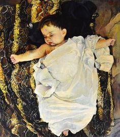 """Saatchi Art Artist Marco Ortolan; Painting, """"Sleeping"""" #art"""