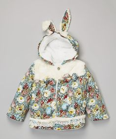 Love this White Bunny Ear Jacket - Infant, Toddler & Girls by Leighton Alexander on #zulily! #zulilyfinds
