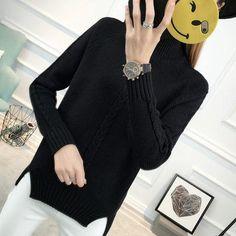 Women Turtleneck Sweater Jumper 2018 New Autumn Winter Long Sleeve Knitwear  Pulloverwwetoro 306e90e73