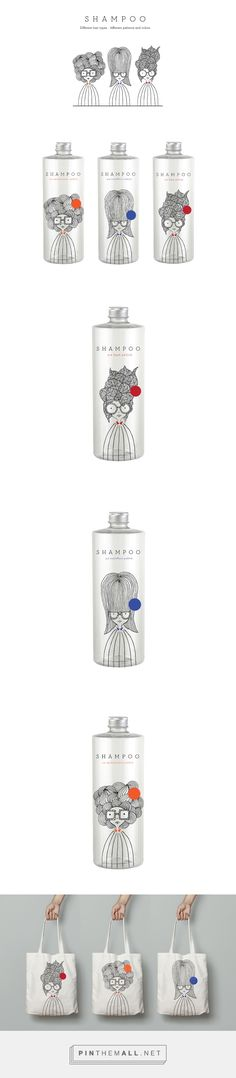 I like the way these shampoos use illustrations. I like the simplicity of the design and the freshness.