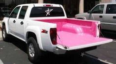 Pink truck bed... it'd look sick in a black truck.