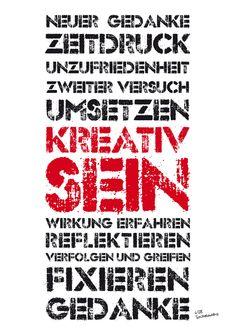KREATIV (lesen von unten nach oben) TypoProjekt