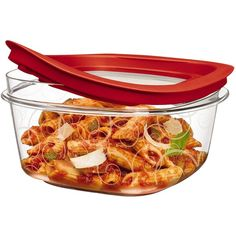 Rubbermaid 5-Cup New Premier Food Storage Container ($9.49) ❤ liked on Polyvore featuring home, kitchen & dining, food storage containers, rubbermaid, pasta container, plastic food storage containers, freezer food storage containers and lid container