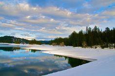 Jenkinson Lake in winter