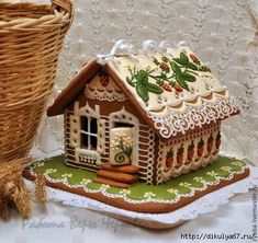 these two women make insane gingerbread houses! I need to teach myself this! Gingerbread Village, Christmas Gingerbread House, Gingerbread Man, Christmas Treats, Christmas Baking, Gingerbread Cookies, Christmas Cookies, Christmas Decorations, Ginger House