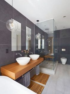 Want to enhance your bathroom? Read on to know our top 50 small bathroom design ideas. From simple to classic to contemporary to luxurious, and more, these bathrooms prove big style moments can come in small packages! Contemporary Bathroom Designs, Modern Bathroom Design, Bathroom Interior Design, Bath Design, Contemporary Interior, Modern Design, Restroom Design, Condo Bathroom, Bathroom Furniture