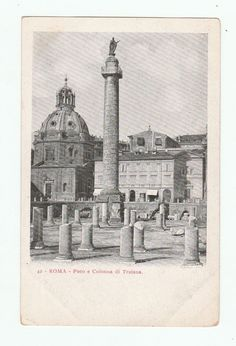 Roma - Foro e Colonna di Traiana unused Vintage Postcard collectible