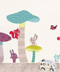 Look at this Mushrooms Wall Decal Set on #zulily today!