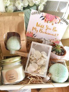Bridesmaid proposal, bridesmaid proposal  DIY kit, bridesmaids, bridesmaids gift, maid of honor, thank you gifts by BellaLaceCreations on Etsy https://www.etsy.com/listing/489096775/bridesmaid-proposal-bridesmaid-proposal