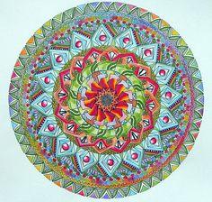 ⊰❁⊱ Mandala ⊰❁⊱  Como Flores Mandala coloreado por Lou-Canadá