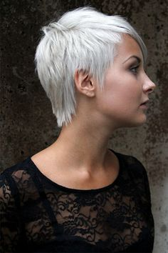 When I go gray...I do hope it's a pretty gray/white...like this...otherwise...red.  I do like this cut though