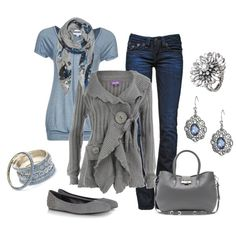 """Gray Girl"" by smores1165 on Polyvore"