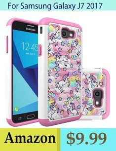 c382e5dcdd15 Rainbow Unicorn samsung galaxy J7 2017 phone case gift for girls  woman Crystal