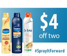 New #Coupon ~ Save $2.00/1 Vaseline or St. Ives Lotion