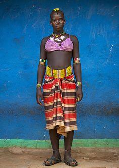 Bana Tribe Girl, Dimeka, Omo Valley, Ethiopia  http://itunes.com/apps/lafforgueHD